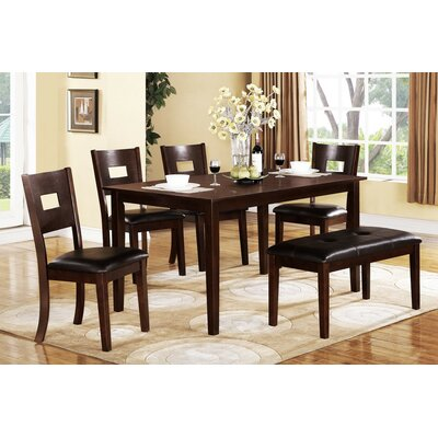 A&J Homes Studio Tracy 6 Piece Dining Set