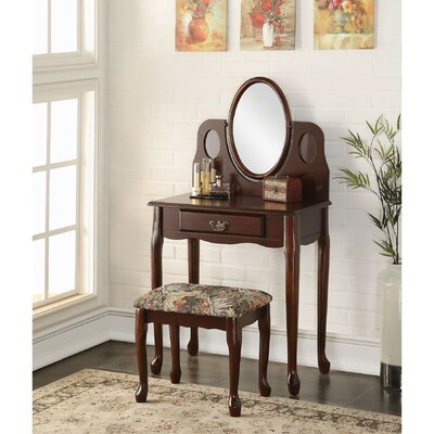 A&J Homes Studio Bell Vanity Set with Mirror