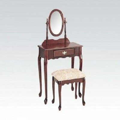A&J Homes Studio Pandora Vanity Set with Mirror