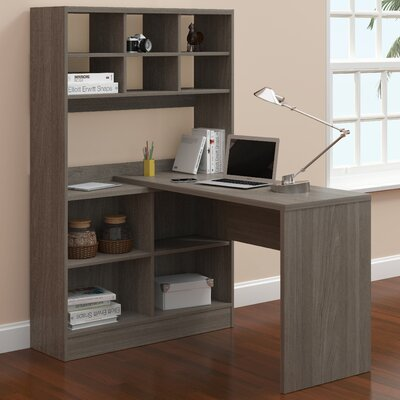A&J Homes Studio Camino Writing Desk with Hutch