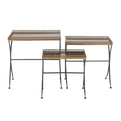 ABC Home Collection 3 Piece Nesting Tables