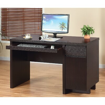 Brassex Computer Desk with 2 Storage Drawers and Storage Cabinet
