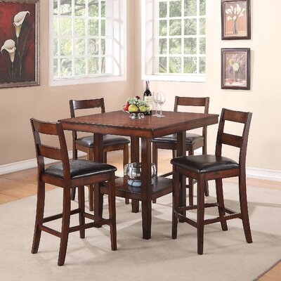 Brassex Santana 5 Piece Counter Height Dining Set