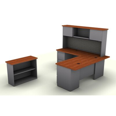SNAP!office 5-Piece L-Shaped Desk Office ..