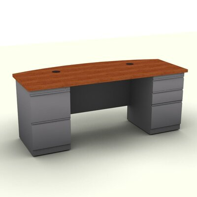 SNAP!office Executive Desk with Bow Front