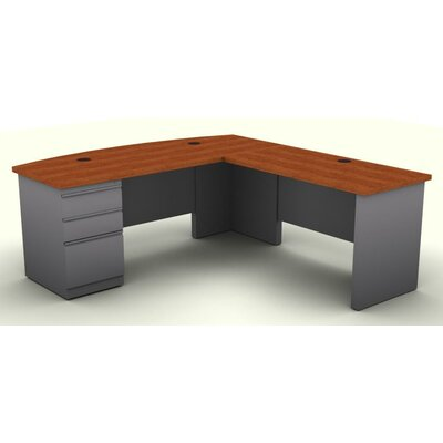 SNAP!office Executive Desk with One Pedestal