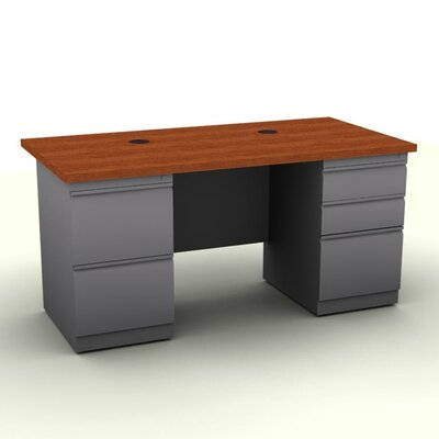 SNAP!office Executive Desk with Two Pe..