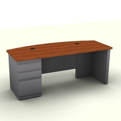 SNAP!office Executive Desk with Pedestal