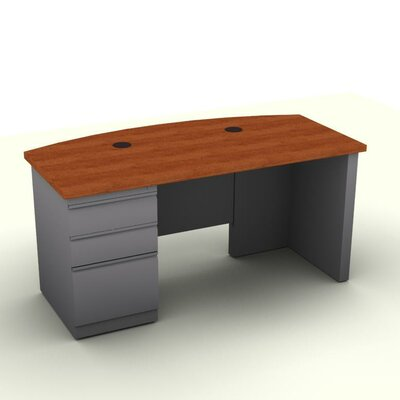 SNAP!office Executive Desk with Single Fi..