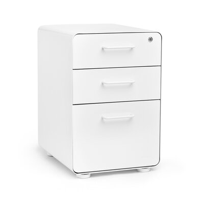 Poppin 3 Drawer Fully Loaded File Cabinet