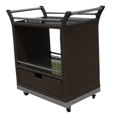 World Wide Wicker Naples Serving Cart
