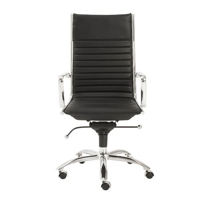 Eurostyle Dirk High-Back Leatherette Office Chair with Arms