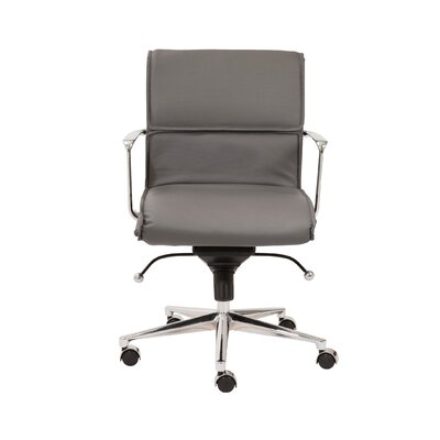 Eurostyle Leif Low-Back Leatherette Office Chair with Arms Image