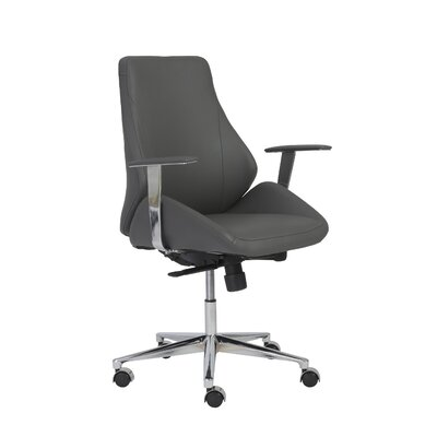 Eurostyle Bergen Low-Back Leather Desk Chair
