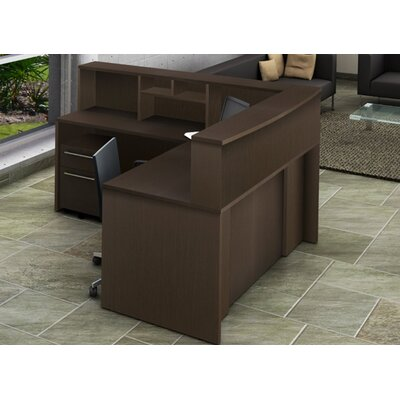 OfisLite Reception Desk with Hutch
