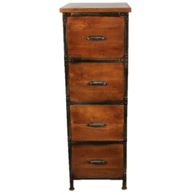 Y Decor 4 Drawer Filing Cabinet