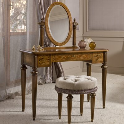 Annibale Colombo Elite Vanity with Mirror