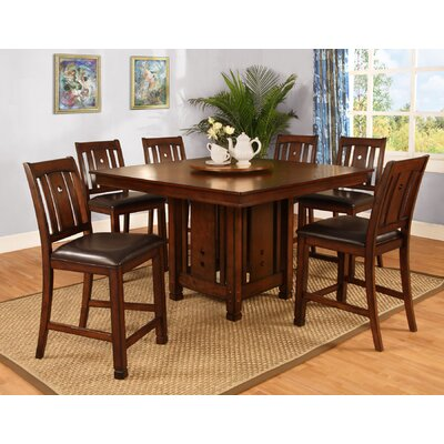 Best Quality Furniture 7 Piece Counter Height Dining Set