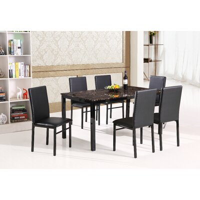 Best Quality Furniture 7 Piece Dining Set