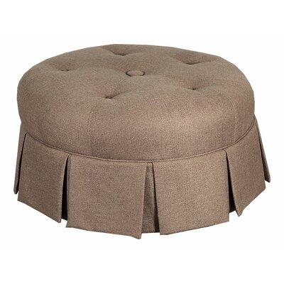 Leffler Home Ava Round Pleated Upholstered Ottoman