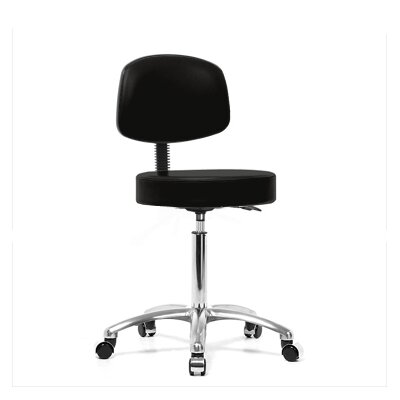 Perch Chairs & Stools Height Adjustable Exam Stool with Basic Backrest