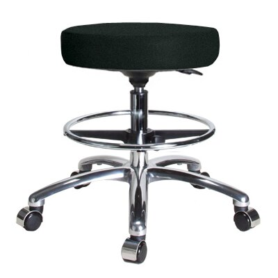Perch Chairs & Stools Height Adjustable Swivel Stool with Foot Ring