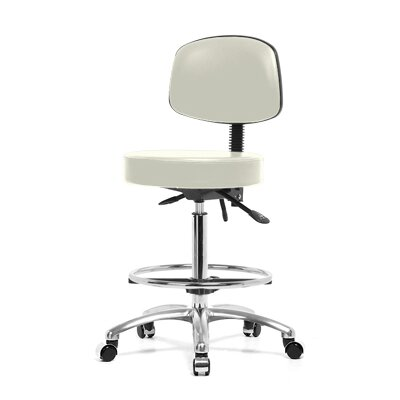 Perch Chairs & Stools Height Adjustable Doctor Stool with Foot Ring