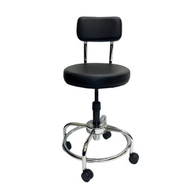 ShopSol Height Adjustable Lab Stool with Free Spin Lift