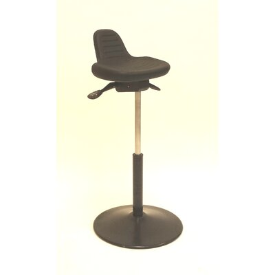 ShopSol Height Adjustable Sit Stand with Round Metal Base