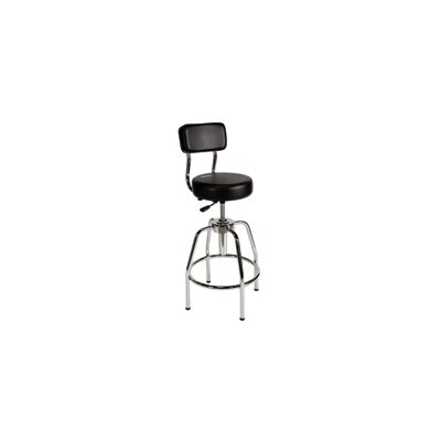 ShopSol Height Adjustable Shop Stool with Backrest