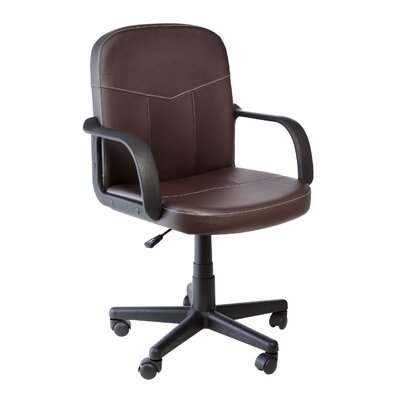 OneSpace Bonded Mid-Back Leather Chair..