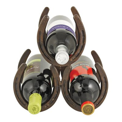 Foster & Rye 3 Bottle Tabletop Wine Rack