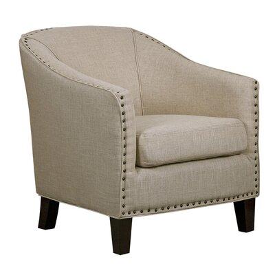 Aden Furnishings Linen Barrel Chair