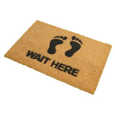Artsy Doormats Wait Here Doormat