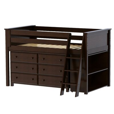 Jackpot! Twin Loft Bed with Dresser and Bookcase