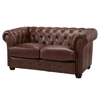 DeLandis Furniture DeCoro Barrister Stationary Leather Sofa