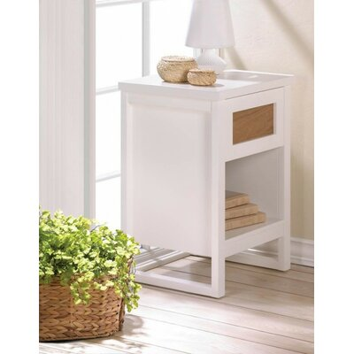 Core of Decor Perfect White End Table