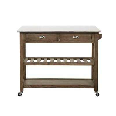 Burnham Home Designs Kitchen Cart with Stainless Steel Top