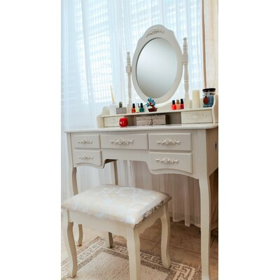 White Label Co. Cleopatra Grand de Lux Vanity Set with Mirror