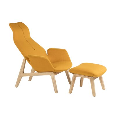 Galla Home Neville Lounge Chair and Ottoman