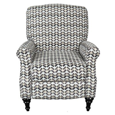 Porter International Designs Noelle Zig Zag Push-back Recliner
