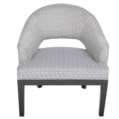 Porter International Designs Draper Woven Greek Key Open Back Barrel Chair