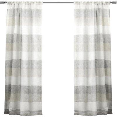 laurel foundry modern farmhouse baillons striped sheer rod pocket curtain panels u0026 reviews wayfair