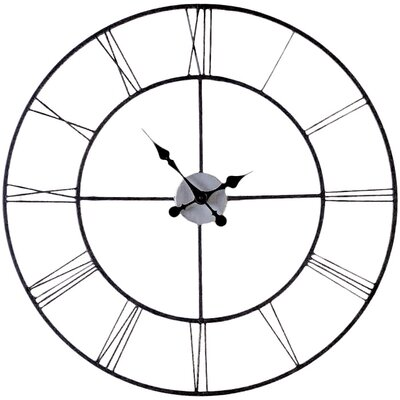 "Decorative Wall Clock laurel foundry modern farmhouse oversized 30"" black decorative"