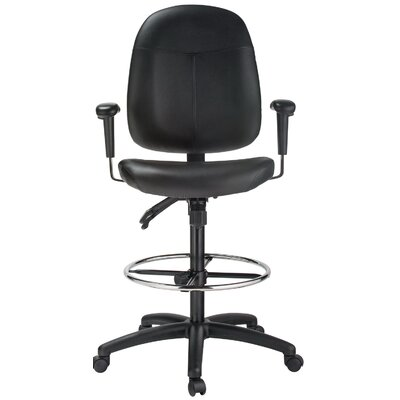 Harwick Furniture Height Adjustable Leather Drafting Chair
