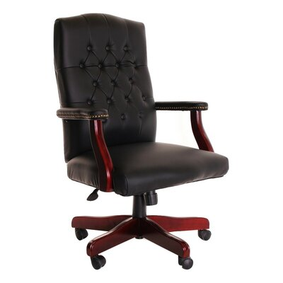 TimeOffice Furniture Mid-Back Leather Exe..