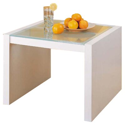 Organize It All Dawn Coffee Table with Glass Top