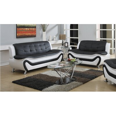 PDAE Inc. Tiffany 2 Piece Sofa Set