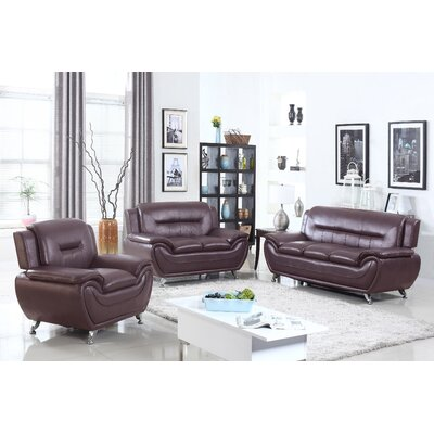 PDAE Inc. Deliah 3 Piece Living Room Set