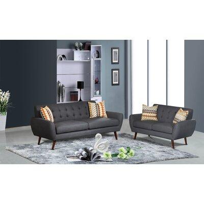 PDAE Inc. Lola 2 Piece Living Room Sofa a..